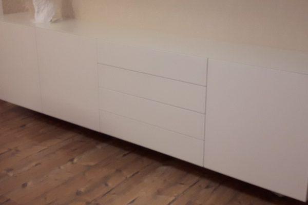 Sideboard weiss Lackiert Schwebend